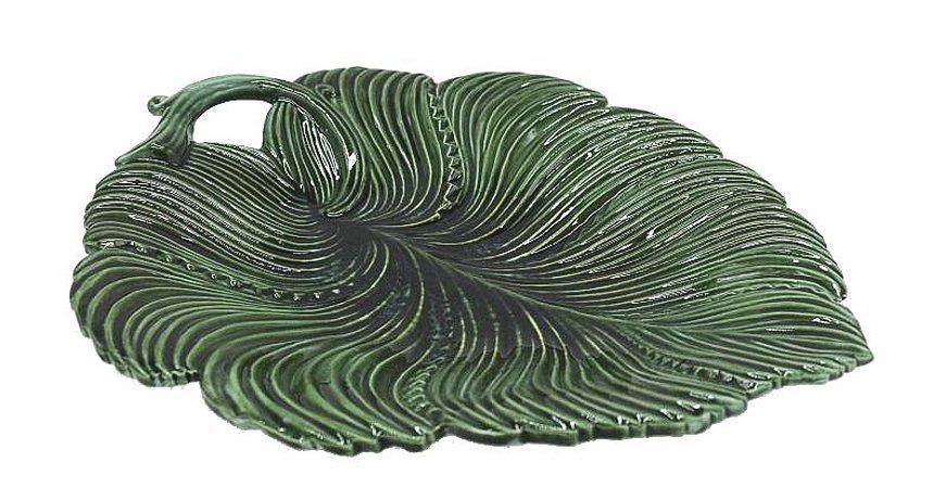Petisqueira cerâmica folha verde Zanatta Casa