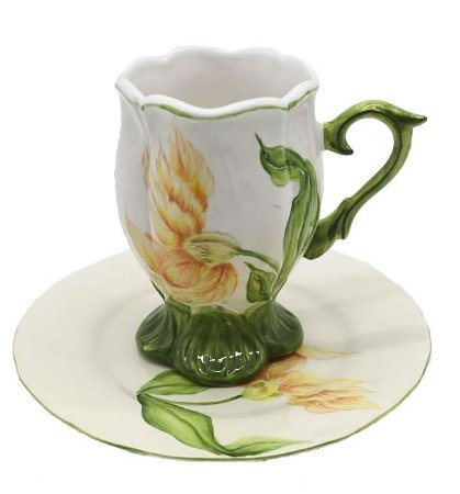 Xícara de chá tulipa laranja Zanatta Casa