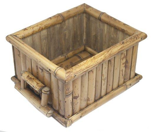 Porta Pote de Sorvete de Bambu