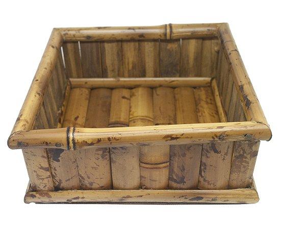 Porta Guardanapo de Bambu P para Guardanapo de Papel
