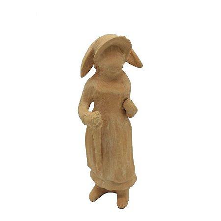 Coelha com Guarda Chuva Terracota Zanatta Casa