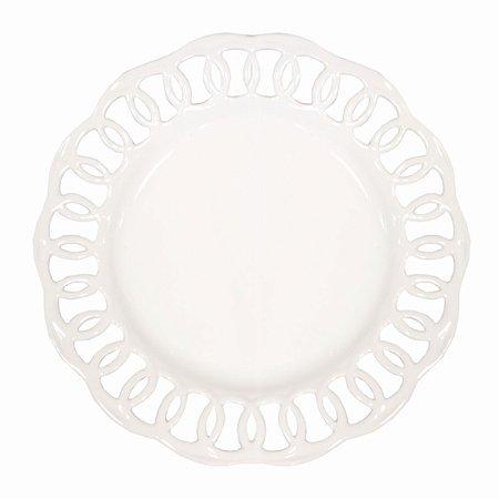 Prato raso Branco Borda Vazada