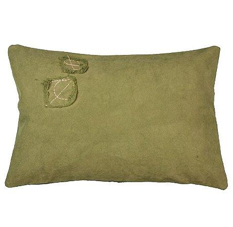 Capa de Almofada Lona Verde estonada 31x47 cm