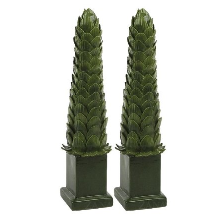 Obelisco Folhas Alcachofra G Zanatta Casa (Par)