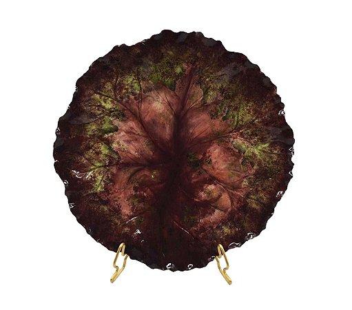 Prato sobremesa vinho alcachofra (cj com 2)
