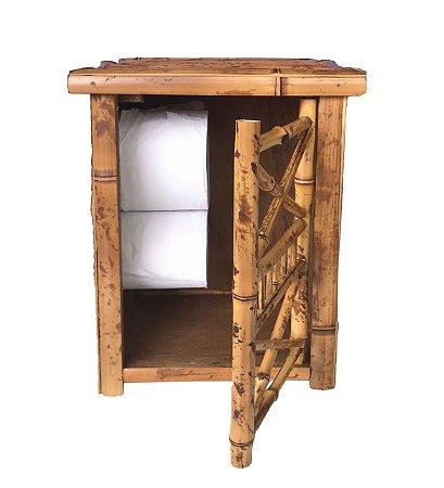 Porta Papel Higiênico de Bambu