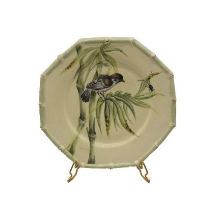 Prato sobremesa Bambu com Pássaro Zanatta Casa