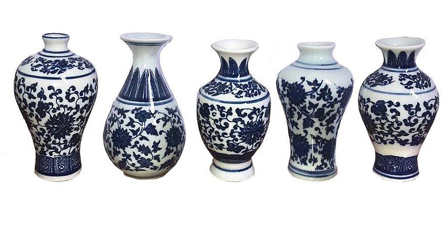 Conjunto 5 Mini Vasos Chinês