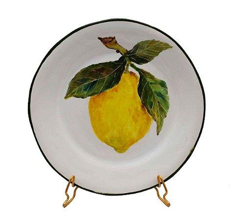 Prato sobremesa Limão Pintado