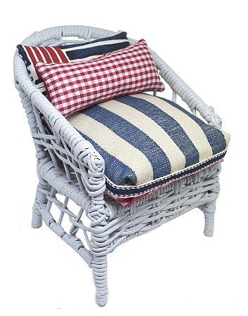 Mini Cadeira Decorativa em Vime Navy