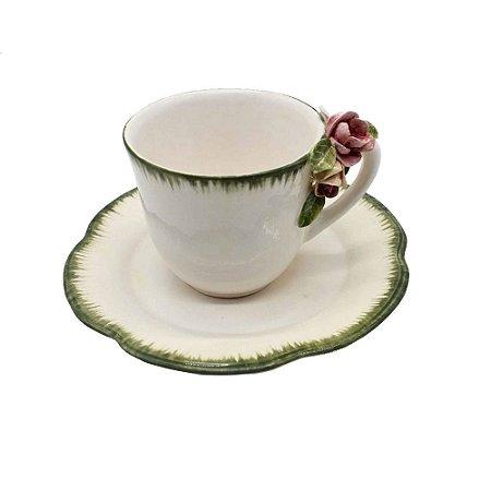 Xícara de chá Jardim de Monet (cj 2)