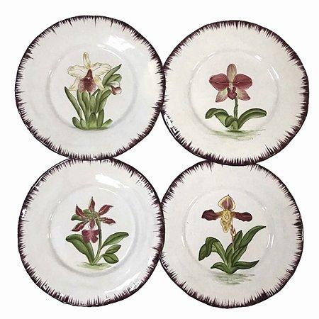 Pratos Jantar Orquídeas (cj 4)