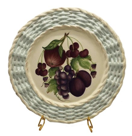 Prato raso borda trançada frutas 2