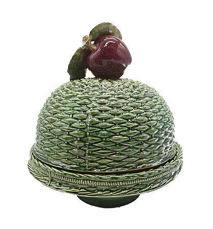 Boleira em Cerâmica Maçã