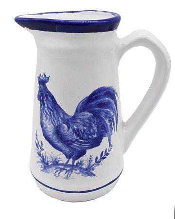 Jarrinha com desenho de galo azul Zanatta Casa