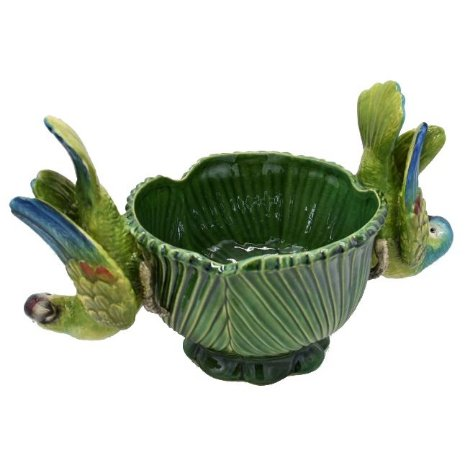 Cachepot palmeira M verde pássaro invertido