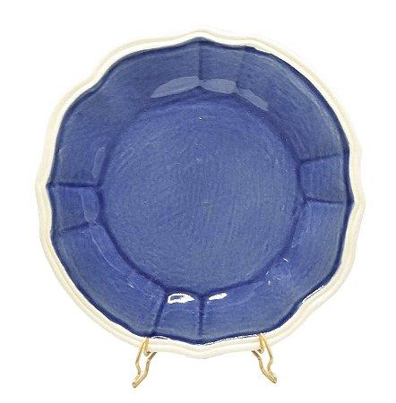 Prato raso casual azul denim Zanatta Casa