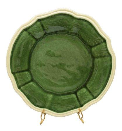 Prato raso casual verde borda faiança  Zanatta Casa