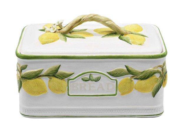 Porta pão limão siciliano em cerâmica Zanatta Casa