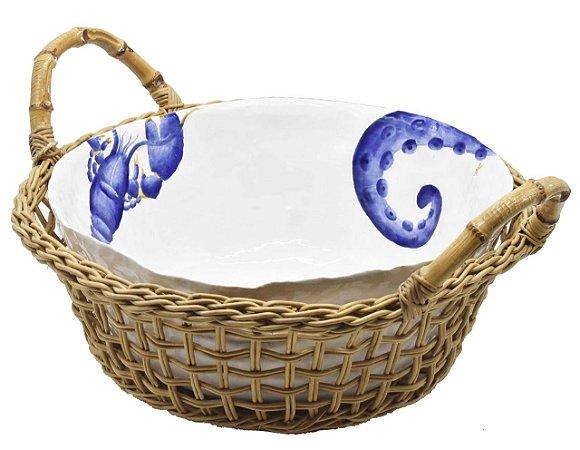 Cesta G com bowl de cerâmica frutos do mar