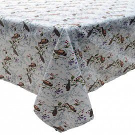 Toalha de mesa passarinhos 1,80 x 1,80