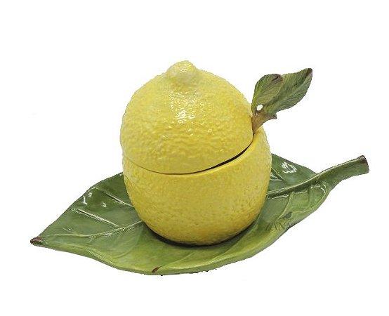 Porta geleia de limão com colher Zanatta Casa