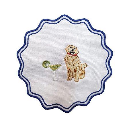 Porta copos cachorro com taça (set com 6)