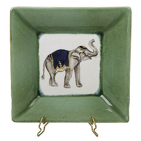 Cinzeiro elefante borda verde Zanatta Casa