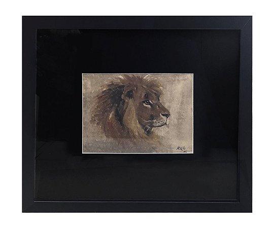 Quadro leão horizontal