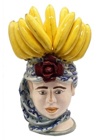 Cabeça Moura Feminina com penca banana