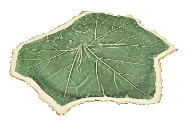 Folha de uva M reta com borda faiança Zanatta Casa