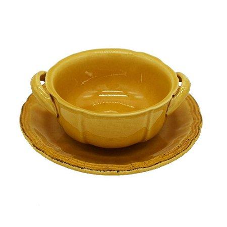 Bowl para consommé amarelo mostarda