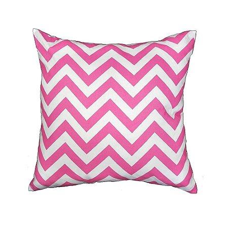 Capa de Almofada chevron pink
