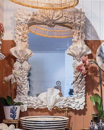 Espelho de conchas cerâmica