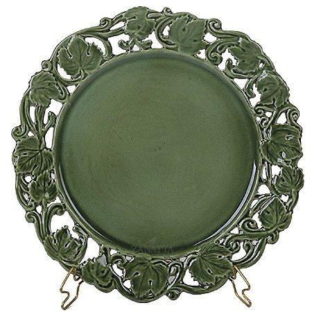 Sousplat verde borda uva Zanatta Casa