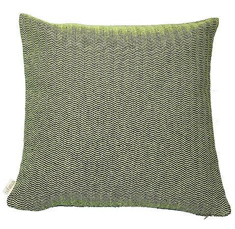 Capa de Almofada Ecossustentável espinha de peixe verde