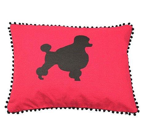 Almofada Poodle vermelha (37x45 cm)