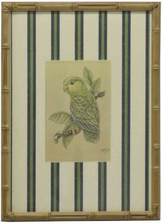 Quadro moldura bambu pássaro 5