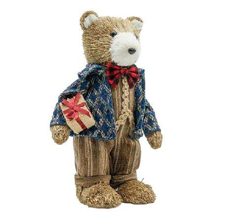 Ursinho de Natal com presente