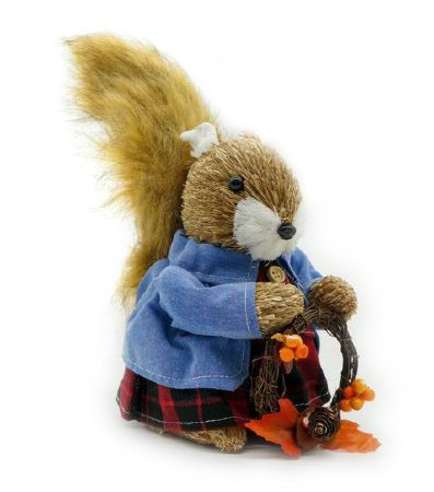 Esquilo de Natal com guirlanda