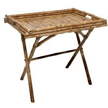 Bandeja com pés em bambu (Dobravel)