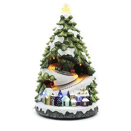 Árvore de Natal com Trenzinho