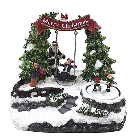 Brinquedo de Natal Balanço com Papai Noel
