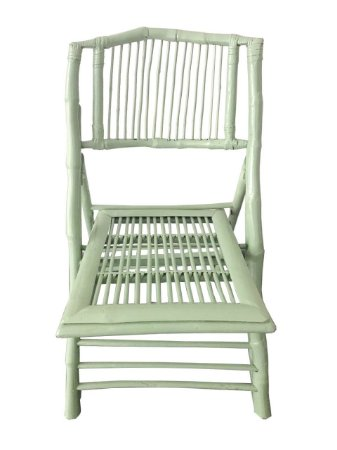 Cadeira de Bambu verde água