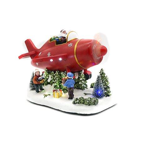 Avião com Papai Noel