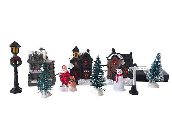 Mini Casas de Natal (10 peças como na foto)