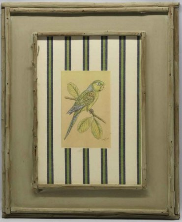 Quadro de Pássaro com moldura de galhos