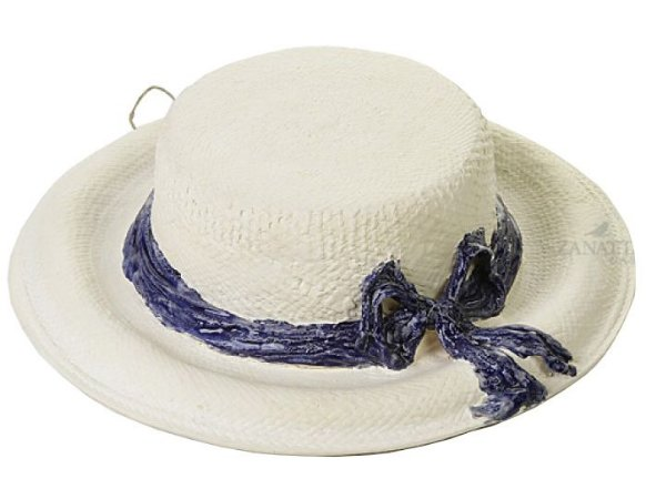 Chapéu com laço azul cobalto Zanatta Casa