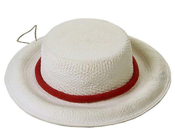 Chapéu com aba com corda vermelha Zanatta Casa