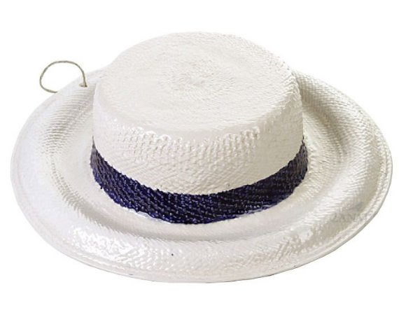 Chapéu com aba com faixa azul cobalto Zanatta Casa